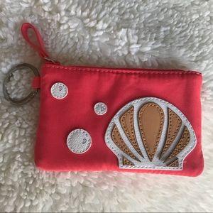 Vera Bradley Seashell Keychain ID Holder